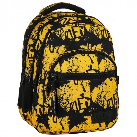 Plecak młodzieżowy BackUP miodowo-czarny w plamy RUNY M43