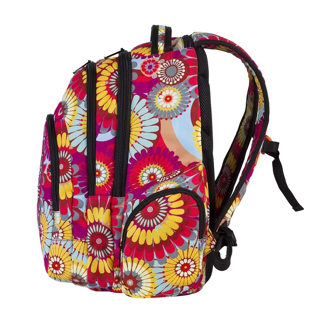 Plecak młodzieżowy CoolPack SPARK 3 przegrody HIPPIE CP 573 - plecak-tornister.pl