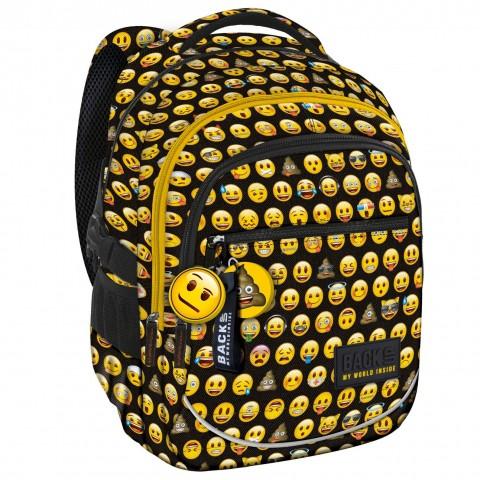 Plecak młodzieżowy BackUP EMOJI w emotikony XEM86 + przywieszki