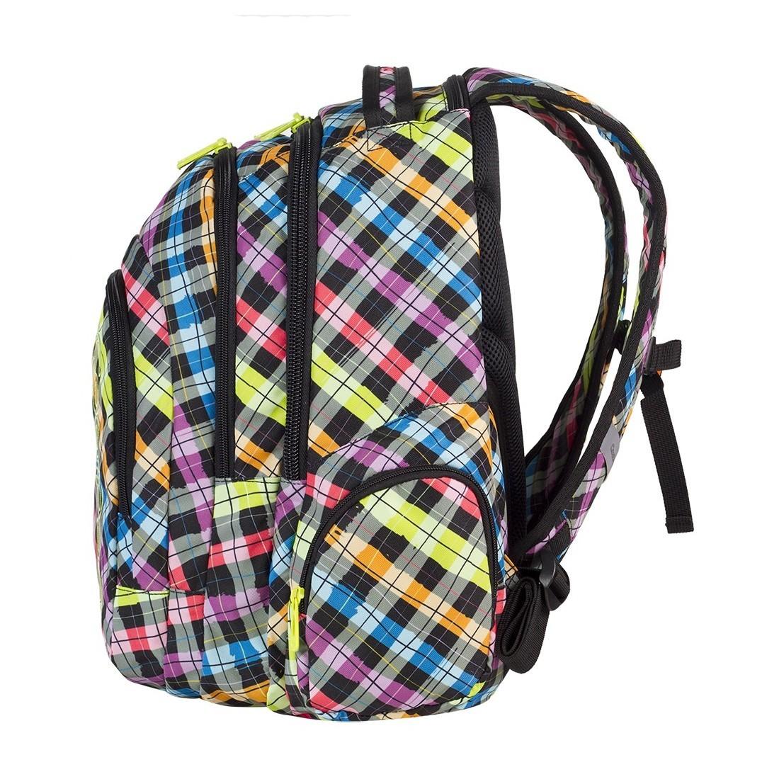 Plecak młodzieżowy CoolPack SPARK 3 przegrody COLOUR CHECK CP 525 - plecak-tornister.pl