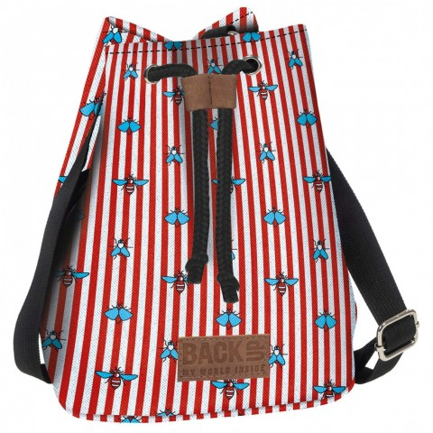 Torebka / mini plecak 2w1 BackUP w paski Canvas MUCHY A26