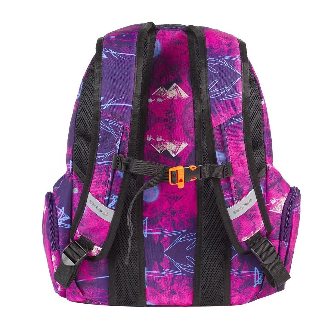 Plecak młodzieżowy CoolPack SPARK 3 przegrody PURPLE DESERT CP 537