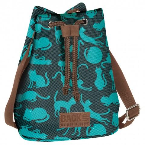 Torebka / mini plecak 2w1 BackUP ciemnozielony Canvas w KOTY A56