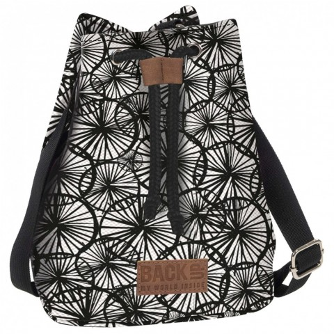 Torebka / mini plecak 2w1 BackUP kremowy Canvas w DMUCHAWCE A55