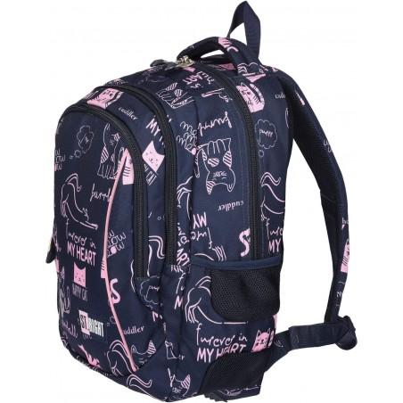 Idealny model plecaka dla uczennicy pierwszej klasy - pomieści wszystkie niezbędne przybory szkolne