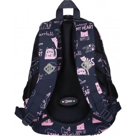 Wygodne i miękkie pasy naramienne to ważny element plecaka szkolnego BP26 ST.RIGHT Cats