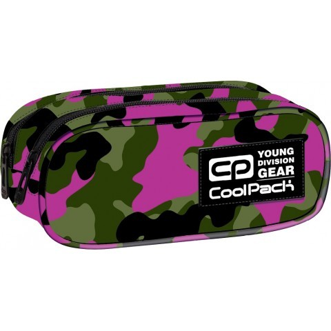 Saszetka podwójna CoolPack CLEVER CAMOUFLAGE PINK CP 614