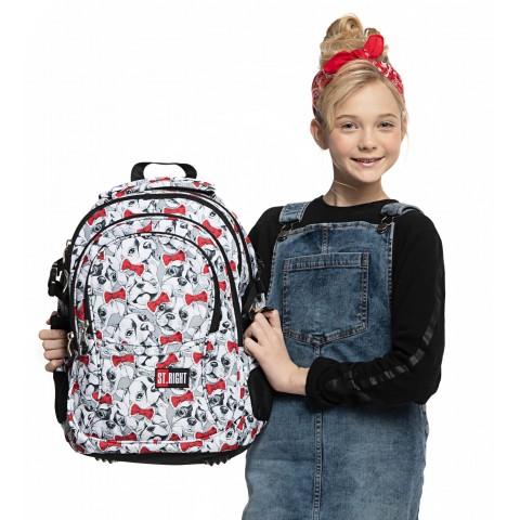 Plecak młodzieżowy ST.RIGHT LOVELY PETS z buldogami BP01