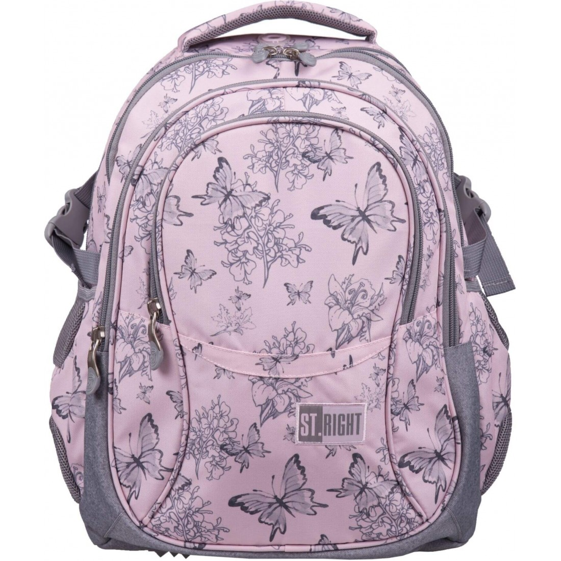 Plecak dla młodzieży różowy ST.RIGHT VINTAGE BUTTERFLIES motyle boho BP01