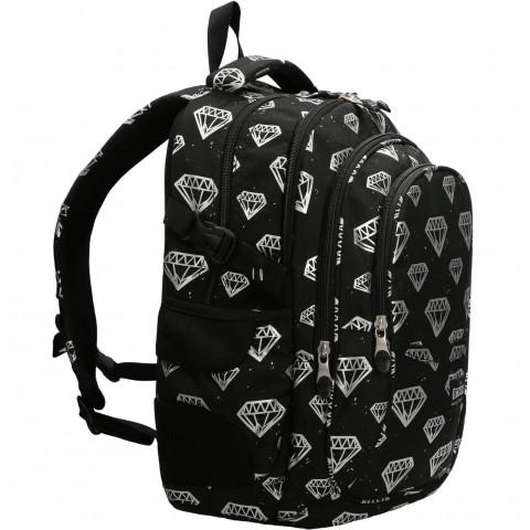 Plecak młodzieżowy ST.RIGHT DIAMONDS czarny z diamentami BP01
