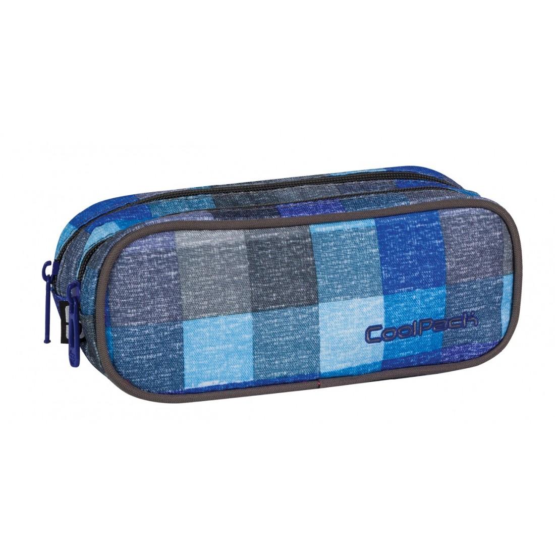 Saszetka podwójna CoolPack CLEVER BLUE SHADES CP 404 - plecak-tornister.pl