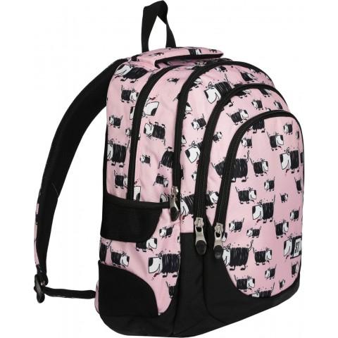 Plecak młodzieżowy ST.RIGHT DOGS różowy w pieski BP06
