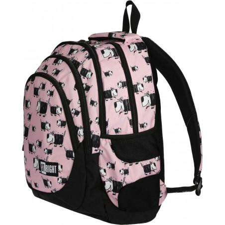 Pojemny i nowoczesny plecak młodzieżowy ST.RIGHT DOGS w rysunkowe pieski