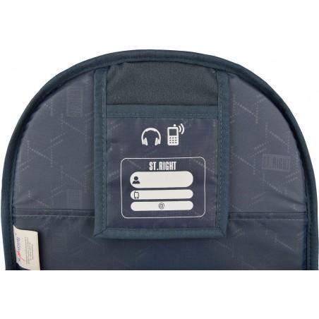 Plecak posiada specjalną kieszeń - organizer na telefon czy słuchawki