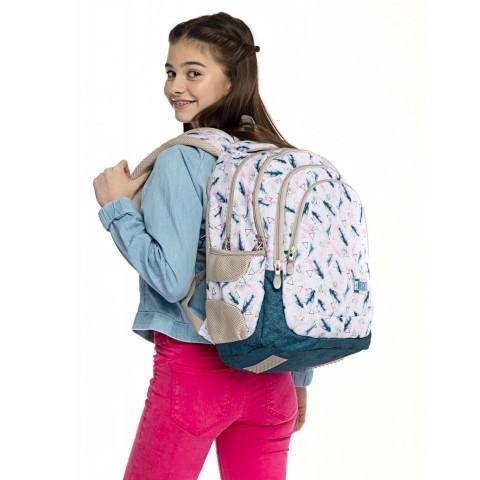 Plecak młodzieżowy ST.RIGHT BOHO w piórka BP06