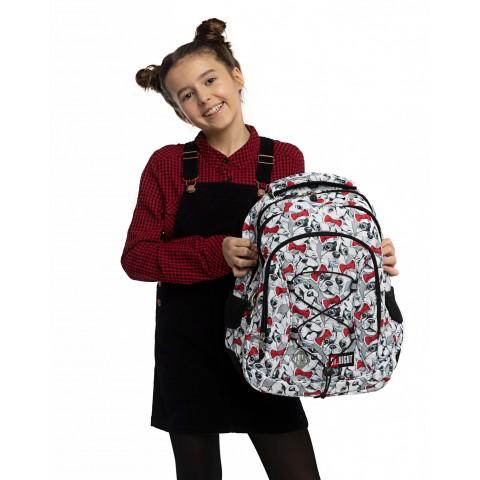 Plecak szkolny ST.RIGHT LOVELY PETS z buldogami BP32