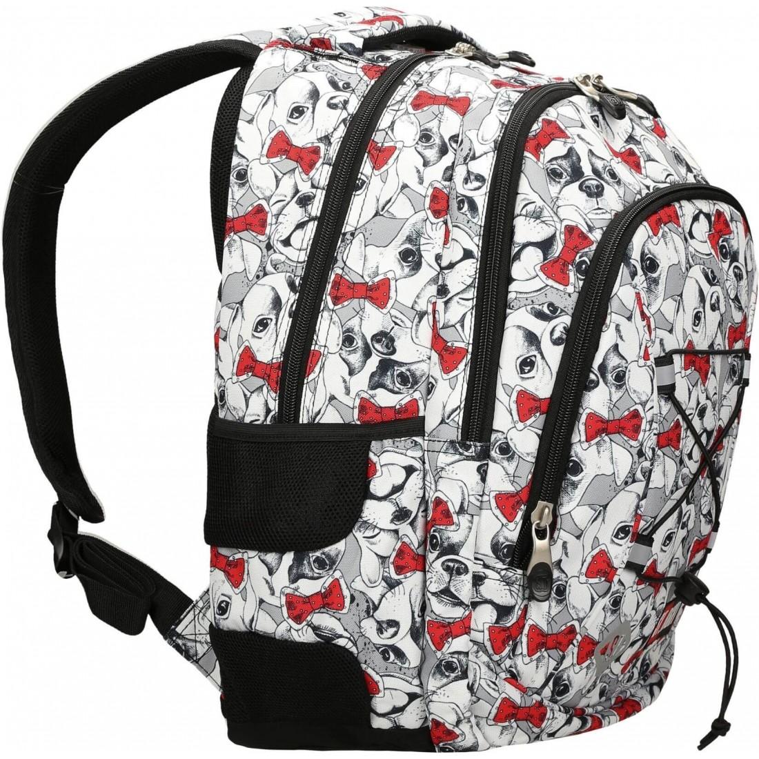 Plecak do szkoły dla dziewczyny ST.RIGHT LOVELY PETS czarno biały BP32 St.Majewski