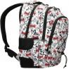 Plecak dla uczennicy ST.RIGHT LOVELY PETS BP32 w czarno-białe psy buldogi z czerwonymi kokardkami