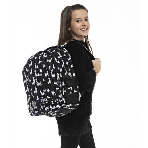 Plecak szkolny ST.RIGHT LAMAS czarny z lamami BP32