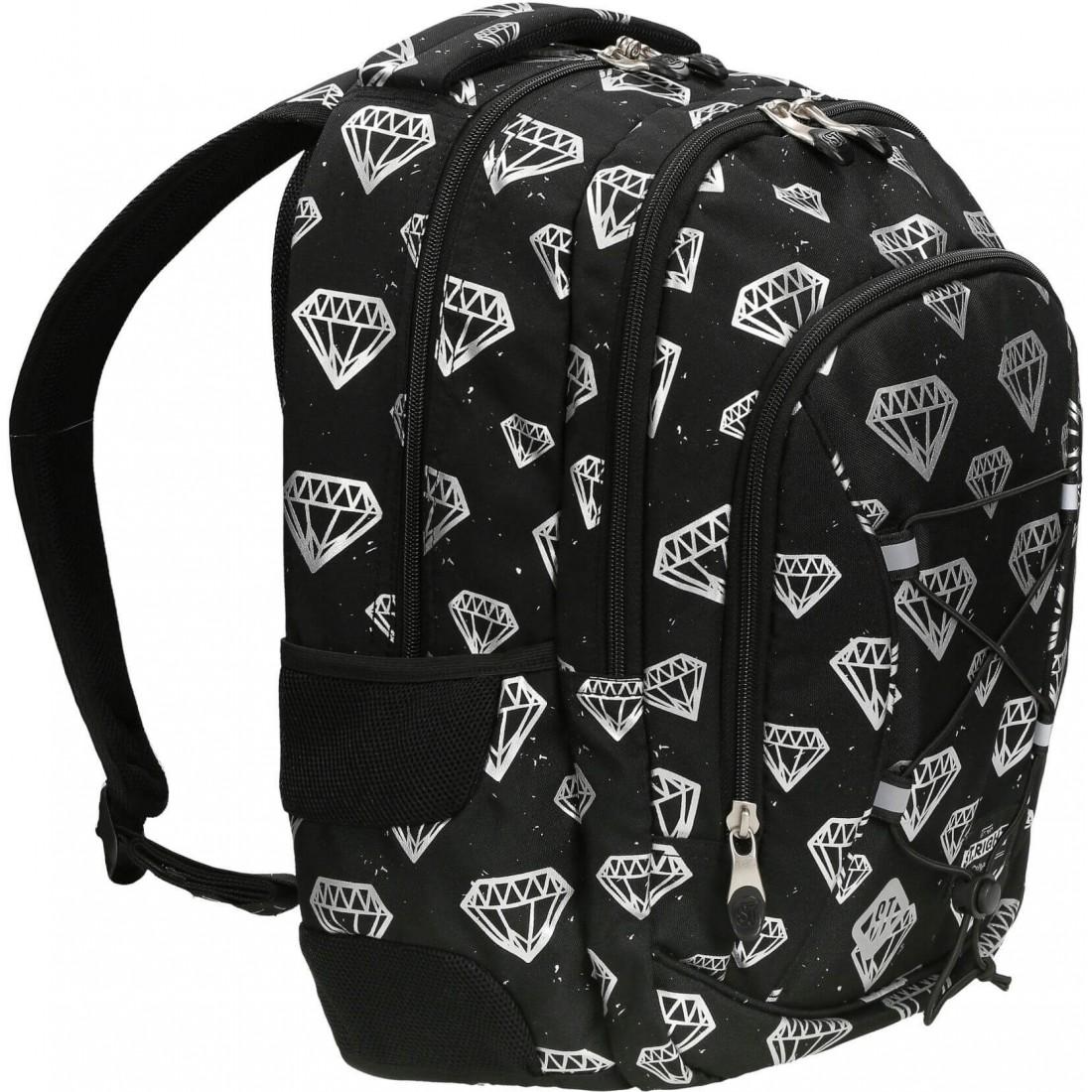 Plecak szkolny ST.RIGHT DIAMONDS czarny z diamentami BP32