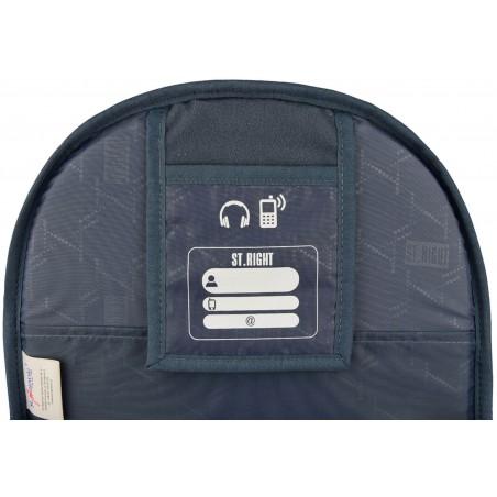 Dodatkowa kieszeń na drobne akcesoria elektroniczne pozwoli zachować porządek w plecaku