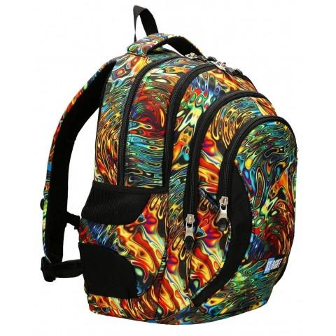 Plecak młodzieżowy ST.RIGHT ABSTRACTION kolorowe fale iluzja BP02