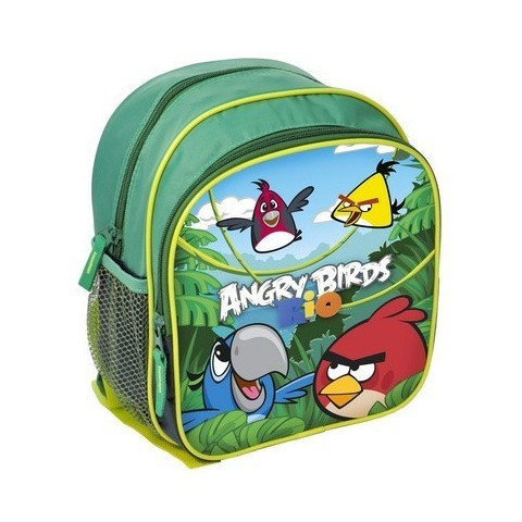 Plecaczek Angry Birds Rio zielony