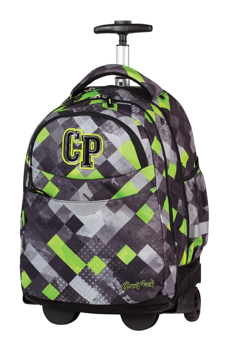 090135018d841 Plecak na kółkach CoolPack CP szary w kratkę dla chłopca RAPID GRUNGE GREY  457