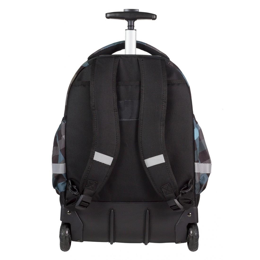 Plecak na kółkach CoolPack CP szary w kratkę RAPID CLASSIC GREY 487 - plecak-tornister.pl