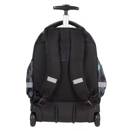 Plecak na kółkach CoolPack CP szary w kratkę dla chłopca RAPID CLASSIC GREY 487