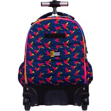 Wysokiej jakości kółka i wygodny uchwyt to główne cechy młodzieżowego plecaka na kółkach z serii Rainbow Birds