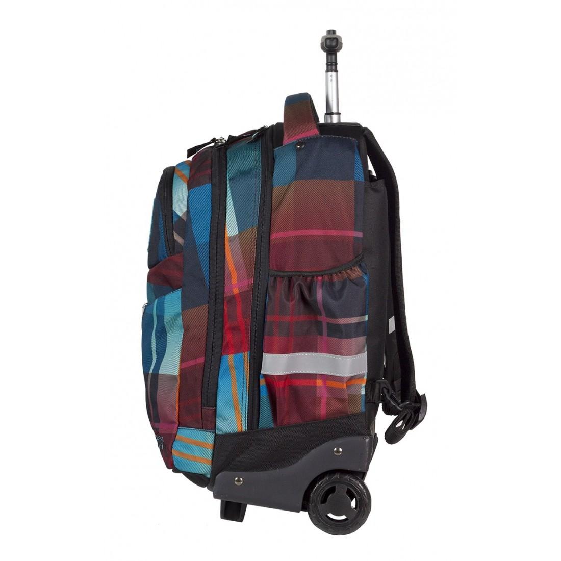 Plecak na kółkach CoolPack CP bordowo niebieski RAPID MAROON 462 - plecak-tornister.pl