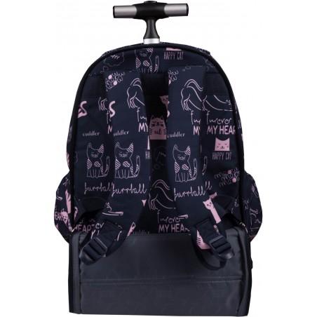 Plecaki na kółkach dla dziewczynki ST.RIGHT TB01 można również wygodnie nosić na plecach
