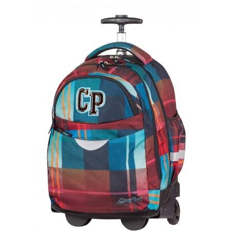 Plecak na kółkach CoolPack CP bordowo niebieski RAPID MAROON 462