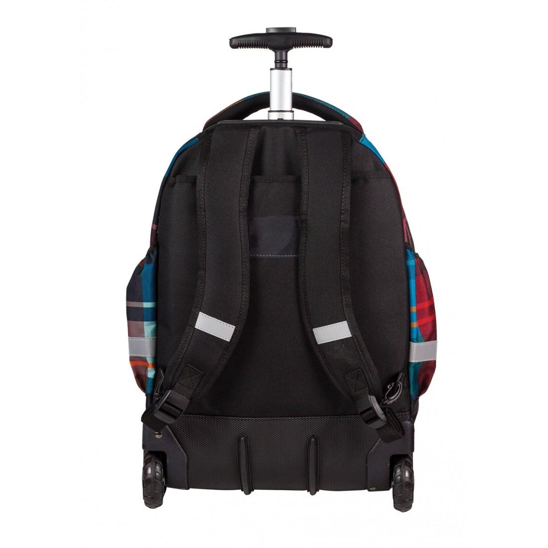 Plecak na kółkach CoolPack CP bordowy i niebieski dla chłopca lub dziewczynki RAPID MAROON 462