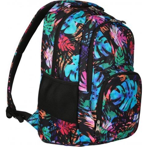 Plecak młodzieżowy ST.RIGHT EXOTIC GARDEN tropikalny w kolorowe liście BP23