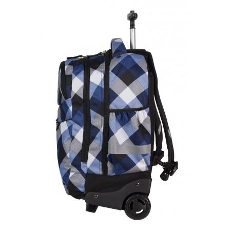 Plecak na kółkach CoolPack CP niebieski w kratkę dla chłopca lub dziewczynki RAPID CAMBRIDGE CP 466