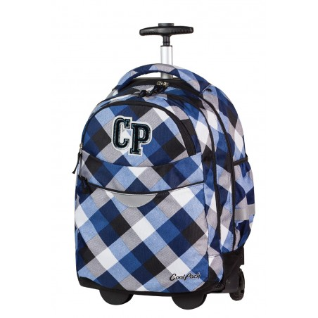 Plecak na kółkach CoolPack CP niebieski w kratkę RAPID CAMBRIDGE CP 466