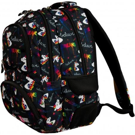 4-komorowy plecak szkolny ST.RIGHT Unicorns BP07 dla uczniów szkoły średniej