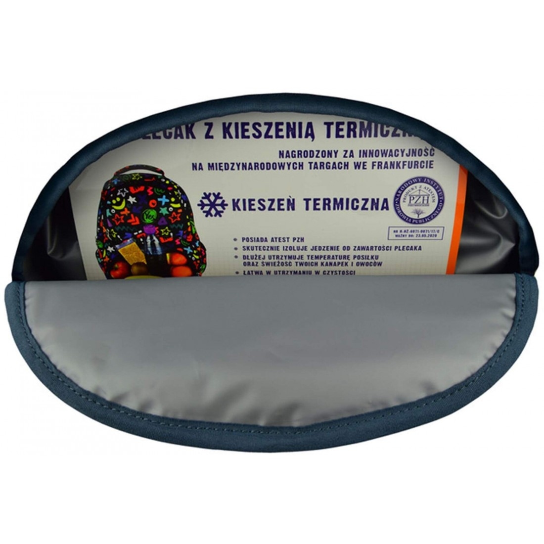 Plecak ST.RIGHT BP07 posiada wielofunkcyjną kieszeń termiczną, w której bezpiecznie przechowasz żywność