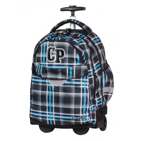 Plecak na kółkach CoolPack CP czarno niebieski w kratkę RAPID SPORTY 450