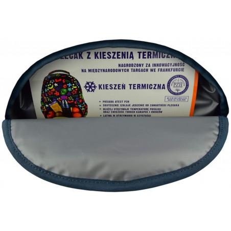 Plecak ST.RIGHT Silver Eyes BP07 ma dodatkową kieszeń termiczną
