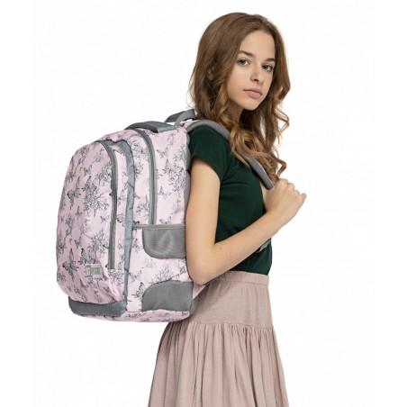 Plecak dla nastolatków motyle ST.RIGHT VINTAGE BUTTERFLIES różowy retro BP47