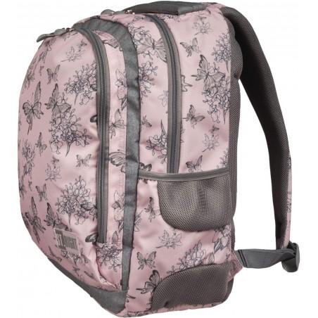 Pojemny, dwukomorowy plecak ST.RIGHT Vintage Butterflies BP047 w modny print