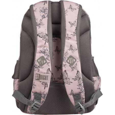 Wygodne pasy naramienne plecaka Vintage Butterlfies pozwolą na łatwe przenoszenie przyborów szkolnych
