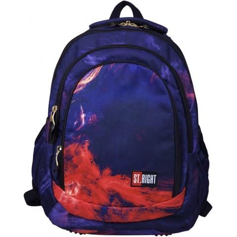 Plecak młodzieżowy ST.RIGHT FLAMES z ogniem lawą BP04