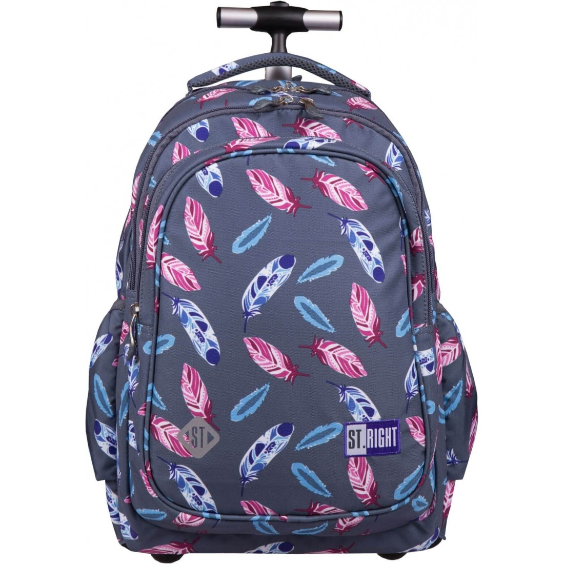 7738ae558ac14 Plecak na kółkach dla dziewczyny piórka ST.RIGHT Indian Feathers ...