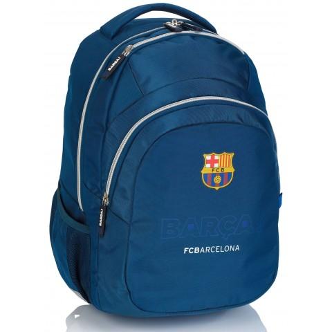 Plecak szkolny młodzieżowy FC Barcelona FC-246 granatowy ze srebrnymi zamkami
