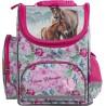 Tornister z koniem szkolny I LOVE HORSES pastelowy różowy konie