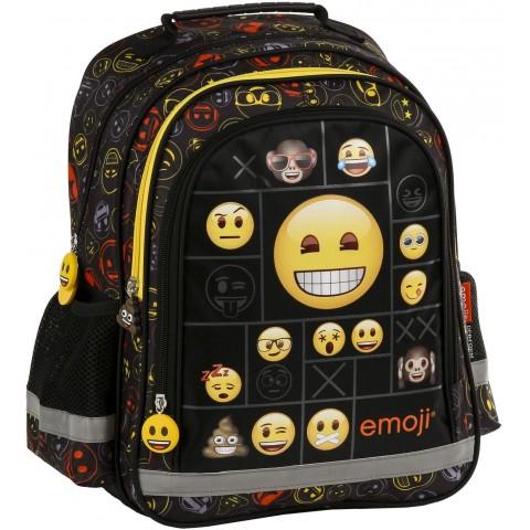 Plecak emotikon dla pierwszoklasisty czarny EMOJI w kolorowe buźki